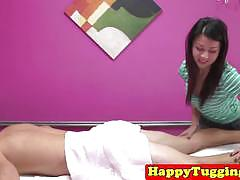 Asian milf masseuse makes customer happy