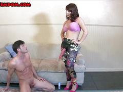 Get fucked for your release femdom strapon pegging