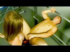 Sportive boy fucked by his girl