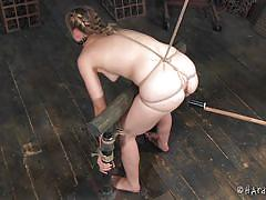 blonde, pain, bdsm, babe, torture, dildo, tied up, ropes, shibari, restraints, hard tied, tracey sweet