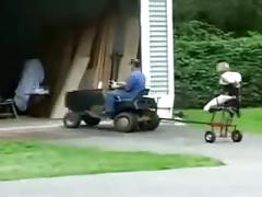 Tractor selfmade fucking machine