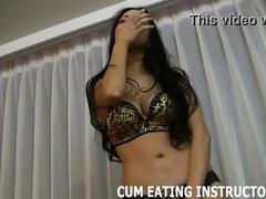 Lay back and cum in your own mouth cei