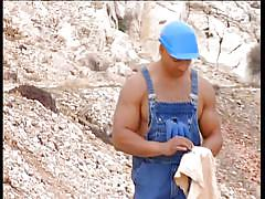 Gay construction workers suck cock and eat cum