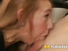 big ass, babe, blowjob, brunette, brown hair, chick, cutie, deepthroat, face fucking, gagging, licking balls, nice ass, round ass