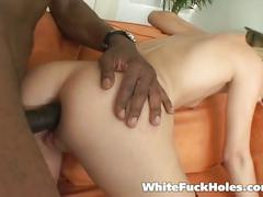 anal, big ass, big dick, blonde, hardcore, interracial, pussy, assfucking, big black dick, black on white, cowgirl, doggy style, gaping hole, hot ass, missionary, platinum blonde, reverse cowgirl, rough fuck, round ass, shaved pussy