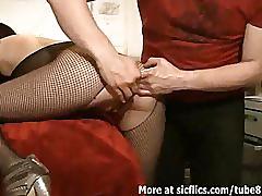fetish, sicflics.com, ass, butt, gape, gaping, babe, girlfriend, brunette, fishnet, fisting