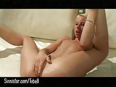 Tiny young blonde takes anal and atm!