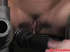 Nipple and pussy clamped skank being humiliated
