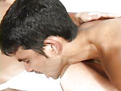 Gay guy takes his lover's cum