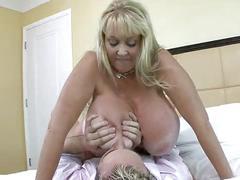 big, boobs, sucking, milf