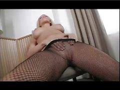 Silent-pain - chair rubber dick fuck