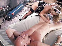milf, blonde, blowjob, sexy clothes, patient, roleplay, on bed, doc, doctor adventures, brazzers network, johnny sins, cherie deville