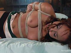 Teen twat teanna tied-up tightly!