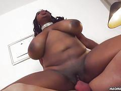 Magma film huge black tits for a white cock