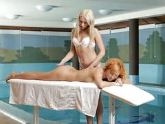 Nubile films - massage turns sensual for cum craving lesbians