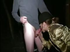 French casting n44 brunette anal babe with 2 men outdoor