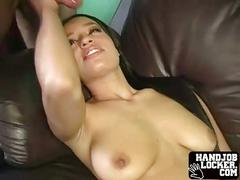 Slutty handjob and blowjob