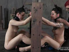 Kinky torture for disobedient sluts