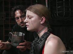milf, blonde, bondage, bdsm, tied up, choking, vault, restraints, infernal restraints, mira raine