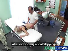 Fake hospital blonde fuck