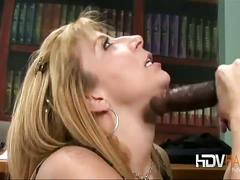 Sara jay takes big chocolate stick