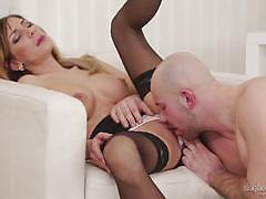 Cute european rachel evans creamed in her sweet wet pussy