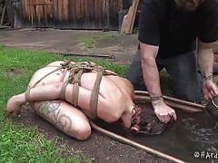 Water torture for a dirty slut