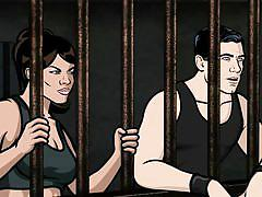 Archer and lana fuck in jail