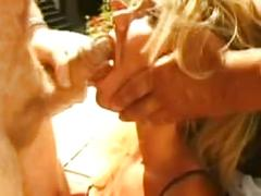 Angry husband punishes wife to blow his friend