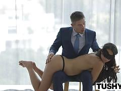 Tushy sensual babe taylor may rides her ass on this stiff shaft