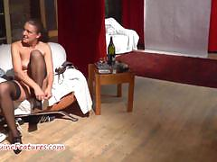 Czech mature fucks with younger guy at the casting