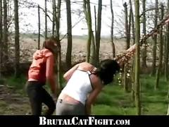 Two girls pay error with catfight and fuck