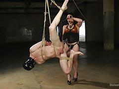 milf, femdom, bdsm, strapon, corset, cock tease, rope bondage, suspension, latex hood, divine bitches, kink, lea lexis, tony orlando