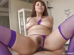 creampie, hairy, busty, censored, japanese babe, japanese from behind, cowgirl japanese, purple stockings, o creampies, all japanese pass, kazama yumi