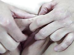 Old mature lady fingers her pussy hard