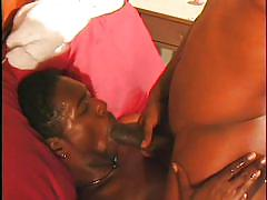Black gay takes a load on the face