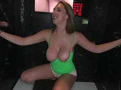 Blonde milf at the glory hole