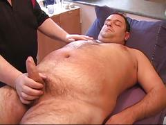 Filthy fatty jerked by another daddy