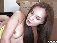 Facialized after ridding cock