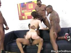 Nikita bellucia gets gangbanged by 4 black studs