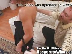 Cynthia's pass around slut wife training session w/ dirty d