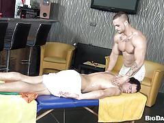 Gay 69 on top of the massage table