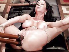 milf, bdsm, big tits, punishment, double penetration, dildo, vibrator, brunette, tied up, hogtied, kink, veronica avluv