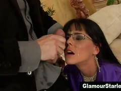 Watch classy spex slut get a hot facial