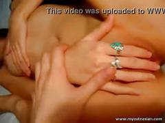 Horny asian chick fingering herself