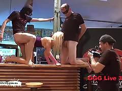 Blonde babe jessi bukkake sex