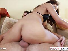 Wild brunette serena ali gets drilled very hard