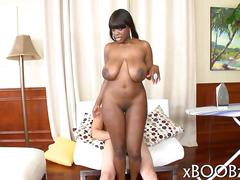Black nubian with big tits banged with a white schlong