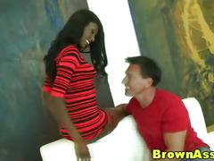 Big black booty gets another cumshot