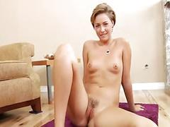Hot and cute babes interviewed after sex